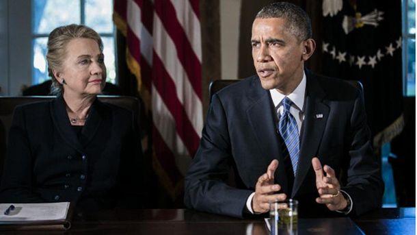 Хілларі Клінтон і Барак Обама