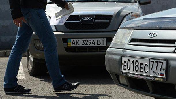 Российские и украинские номера в Крыму