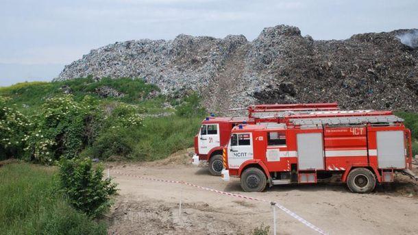 Тушение пожара в Грибовичах