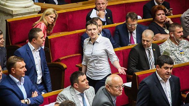 Надежда Савченко в парламенте