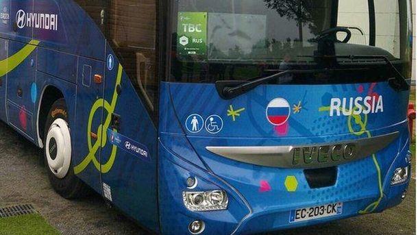Автобус збірної Росії на Євро-2016