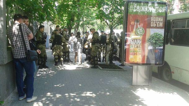 Перекрытая улица в Киеве