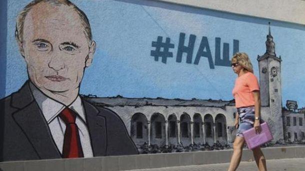 Малюнок Путіна у Криму