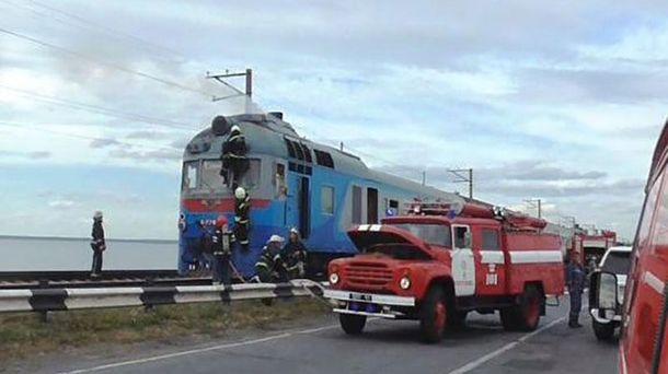 Пожар в поезде возле Черкасс