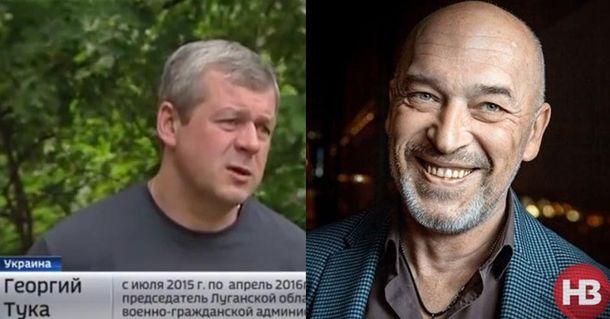 Зліва — невідомий чоловік, справа — заступник міністра з питань тимчасово окупованих територій Георгій Тука