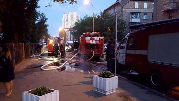 Пожар в Соломенском районном суде Киева