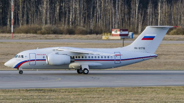 Літак, яким ГРУшників доставили в Росію, повертається в Україну