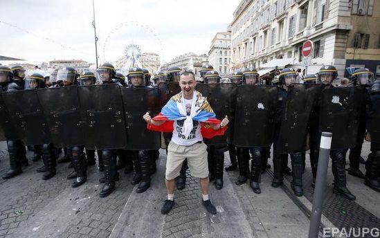 Російський фанат у Марселі
