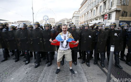 Российский фанат в Марселе