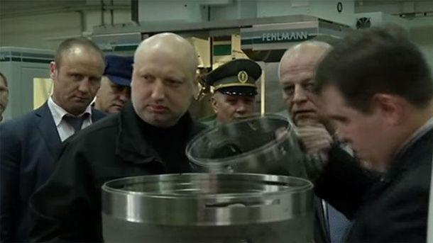 Александр Турчинов на предприятии