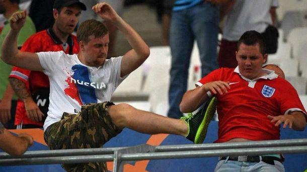 Российские болельщики на Евро-2016