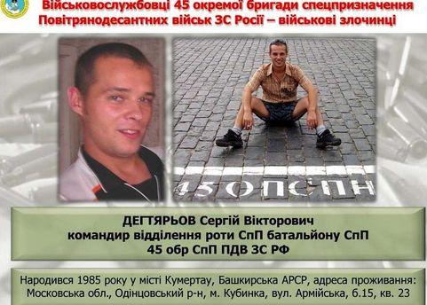 Російський військовослужбовець