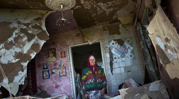Разрушение на Востоке Украины