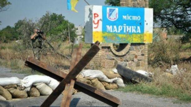 Неспокойно в районе Марьинки