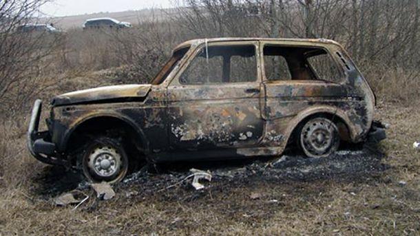 Спалене авто. Ілюстрація