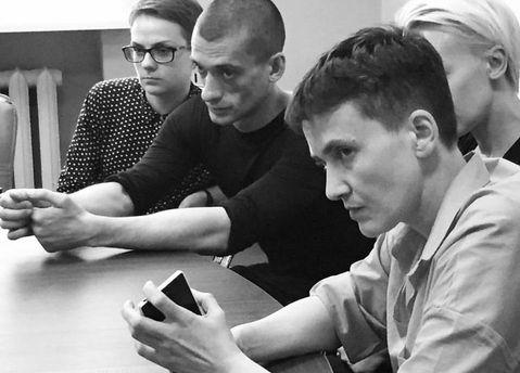 Надія Савченко та  Петром Павленський