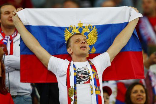 Россиянин на матче Евро-2016