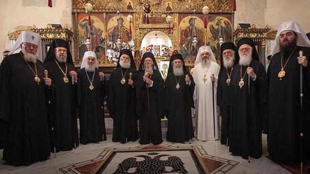 Предстоятелі 10 автокефальних православних церков на відкритті собору на Криті