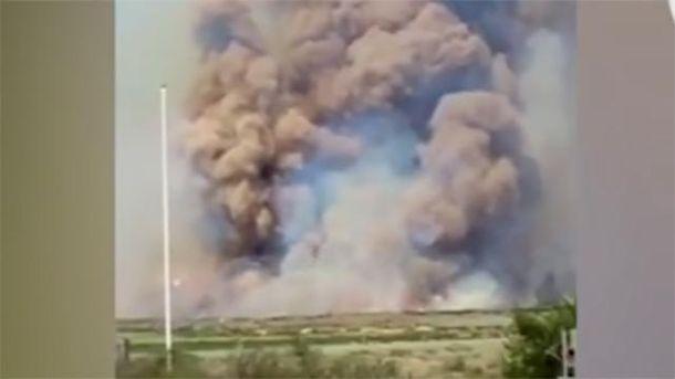 Пожежа на полігоні у Росії
