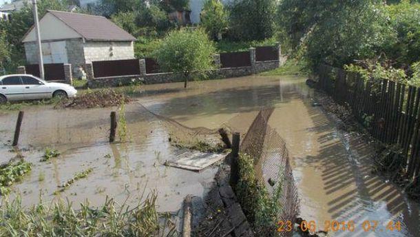 Сильное наводнение на Киевщине