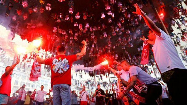 Польські фанати на Євро-2016