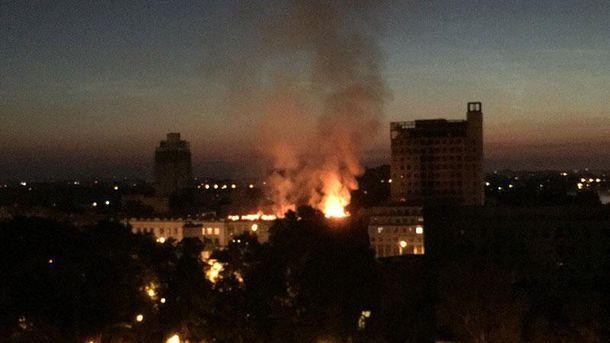 Пожар в Днипре