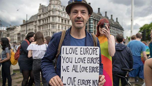 Протест проти Brexit