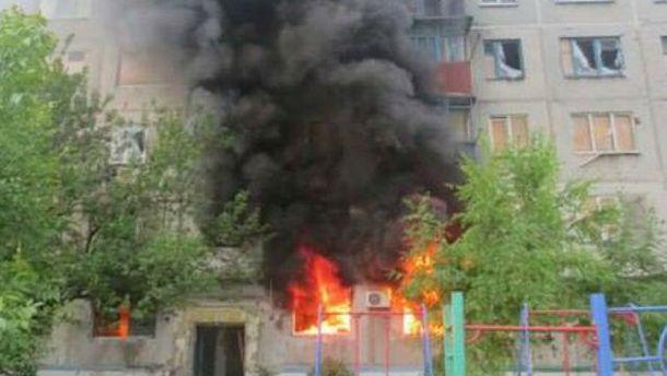 Обстрелянная боевиками Красногоровка