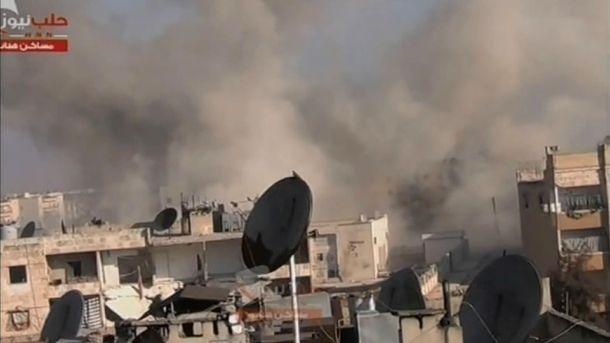 Сирийские города после авиаударов