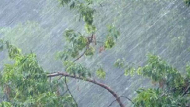 На заході пройдуть сильні  зливи