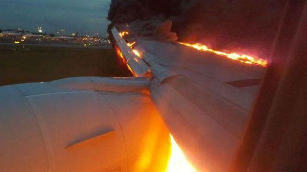 Літак загорівся при посадці