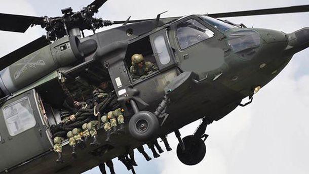 Вертоліт з військовими
