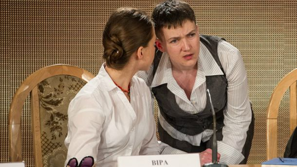 Надія Савченко з сестрою Вірою