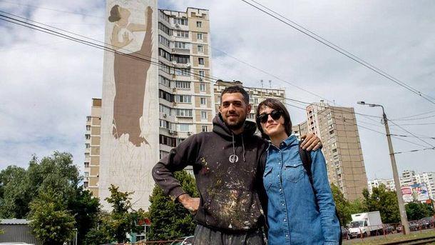 Греческий уличный художник Fikos Antonios