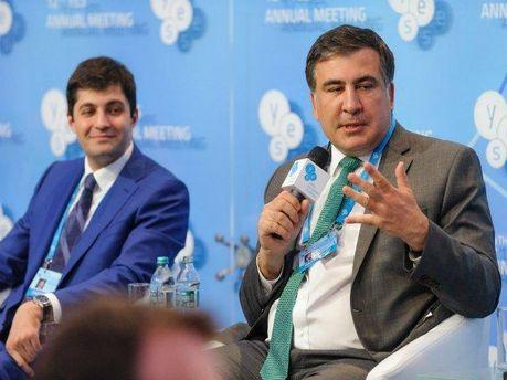 Саакашвили может стать членом новой партии Сакварелидзе