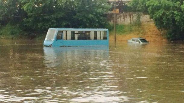 Наводнение в Донецке