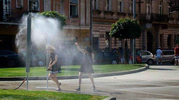 Уличный душ в Польше