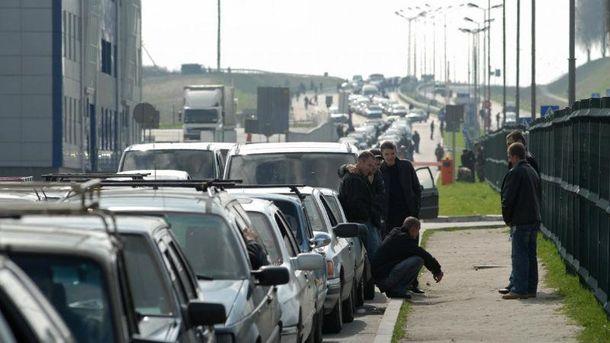 Очереди на украинско-польской границе
