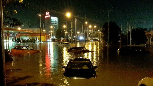 Затоплений Ростов-на-Дону