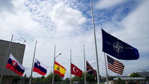 Флаги НАТО и стран-членов