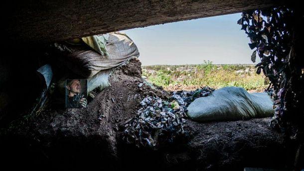 Позиции украинских военных в зоне АТО