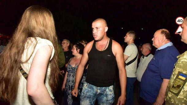 Пьяный митинг в Торецке