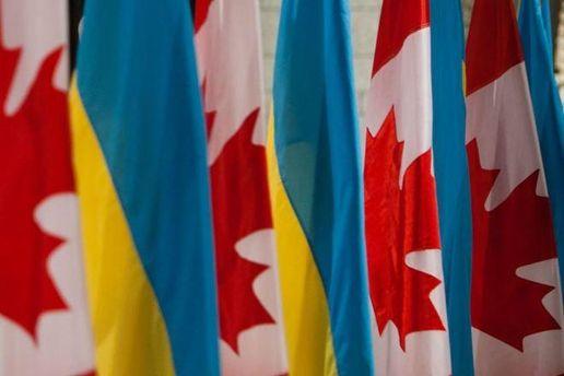 Прапори України та Канади