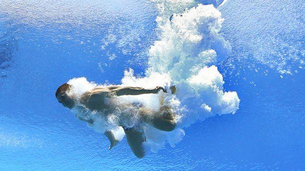 Сергей Назин в воде