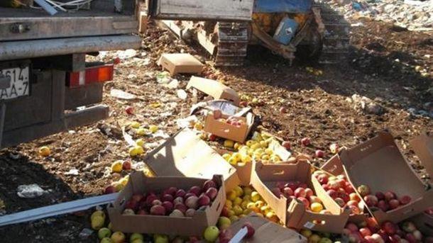 У Росії знищують продукти