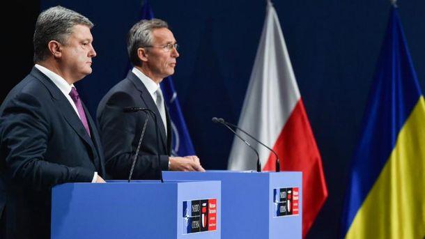 Совместная пресс-конференция генсека НАТО с президентом Украины