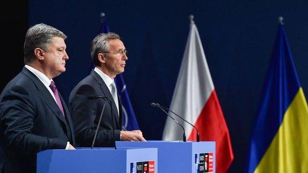 Петр Порошенко на саммите НАТО