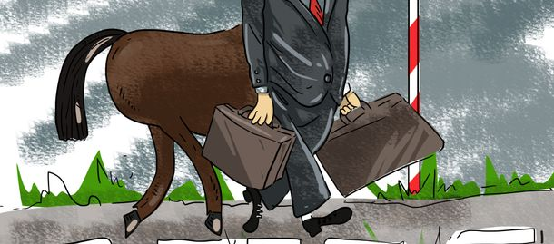 Карикатура тижня. Втеча скандального Онищенка