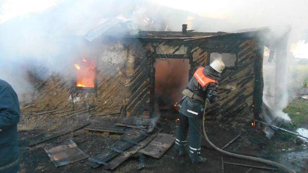 Пожар под Киевом унес две жизни