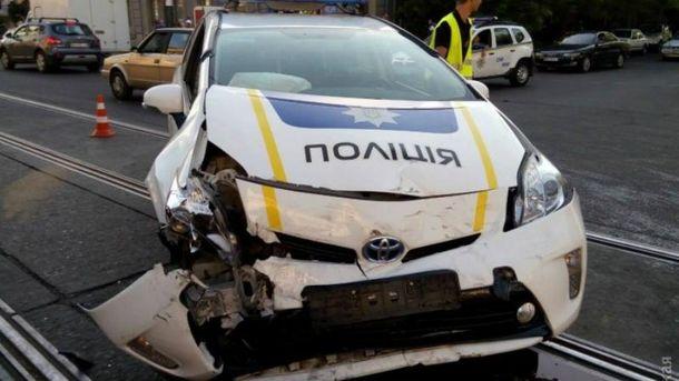 Массовое ДТП с участием полиции в Одессе